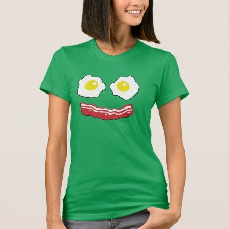 Bacon and Eggs smiley face T-Shirt - click/tap to personalize and buy