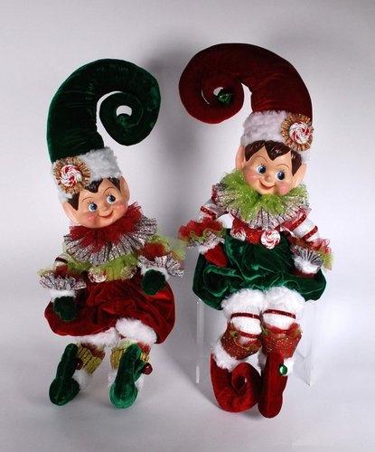 Katherine's Collection Sweetie and Treatie Lollipop Christmas Elf Set
