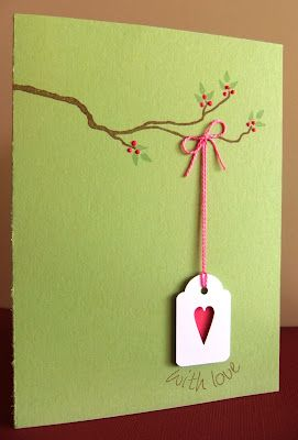 Love this idea, tag hanging from branch! This, that and everything inbetween: cards