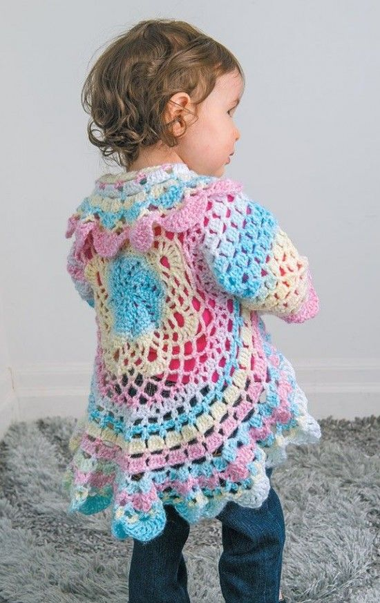 35% Off  On November 11th, Buy Yarn To DIY : http://www.aliexpress.com/store/1687168 Circular Crochet Jacket Toddler free pattern - maybe in a neutral beige or grey yarn