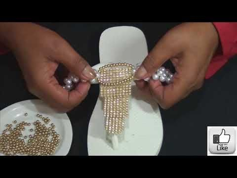 Diy cabedal de pérolas e manta de strass - YouTube