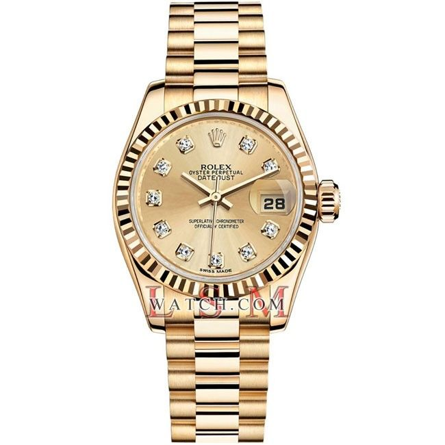 Rolex Yellow Gold Lady Datejust President - 179178CHDIA