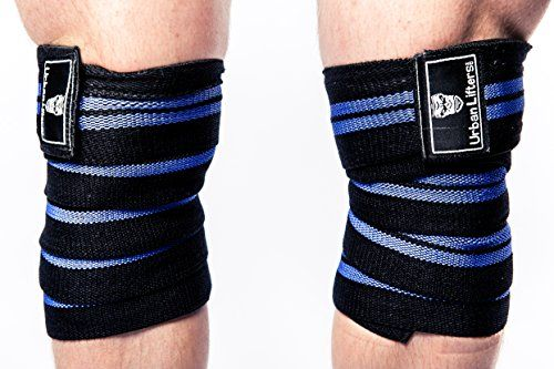 Weight Lifting Knee Wraps. Heavy Duty, Elasticated Knee Support. Perfect for Squatting, Powerlifting, Olympic Lifting and CrossFit. Competition Grade Specification. Sold as a Pair. (Black/Blue) #Weight #Lifting #Knee #Wraps. #Heavy #Duty, #Elasticated #Support. #Perfect #Squatting, #Powerlifting, #Olympic #CrossFit. #Competition #Grade #Specification. #Sold #Pair. #(Black/Blue)