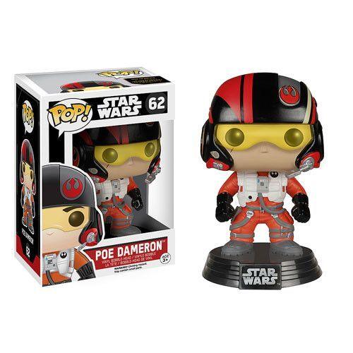 Poe Dameron Pop Star Wars Force Awakens Bobble-Head Vinyl Figure