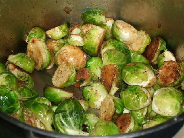 Cumin-Braised Brussels Sprouts | food | Pinterest