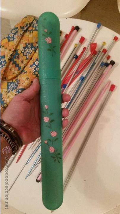 Estuche para las agujas de hacer punto (en casa de mi madre aún hay uno, pero es rojo, jejje)