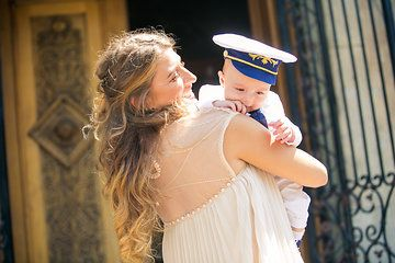Photo from BOTEZ ~ Stefan Alexandru   Precious moment with the sailor and the godmother