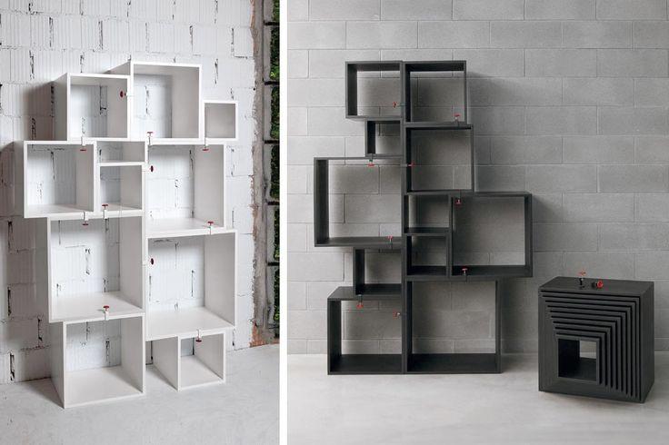 Les 25 meilleures id es de la cat gorie cube de rangement modulable sur pinte - Bibliotheque cubes modulables ...