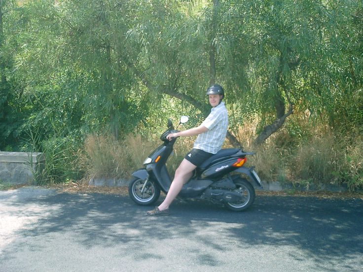 On your bike...mate. Lipari, Italy