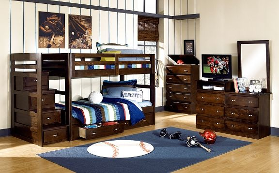 Varsity Merlot Iii Kids Furniture Collection Value City Furniture Twin Bunk Bed With Stairs