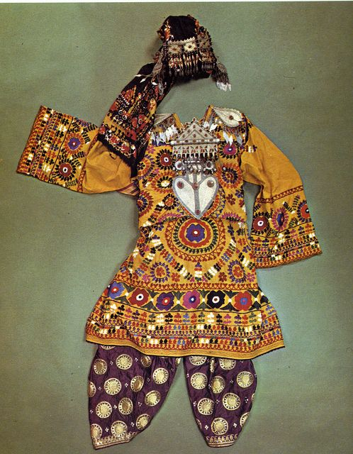 Traditional woman's costume from Turkmenistan and northern Afganistan