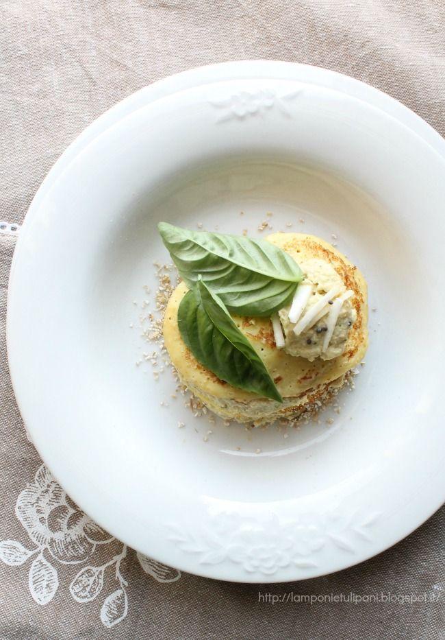 millefoglie con mousse di pollo e sedano rapa http://lamponietulipani.blogspot.it/
