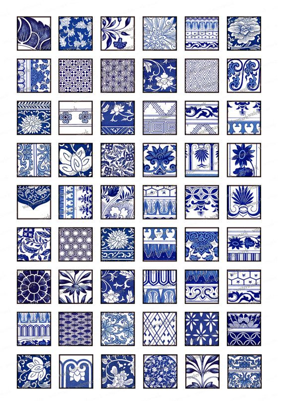Asian Blue Oriental Floral Chinese motifs. These can be downloaded and used in as many ways as you can think of.