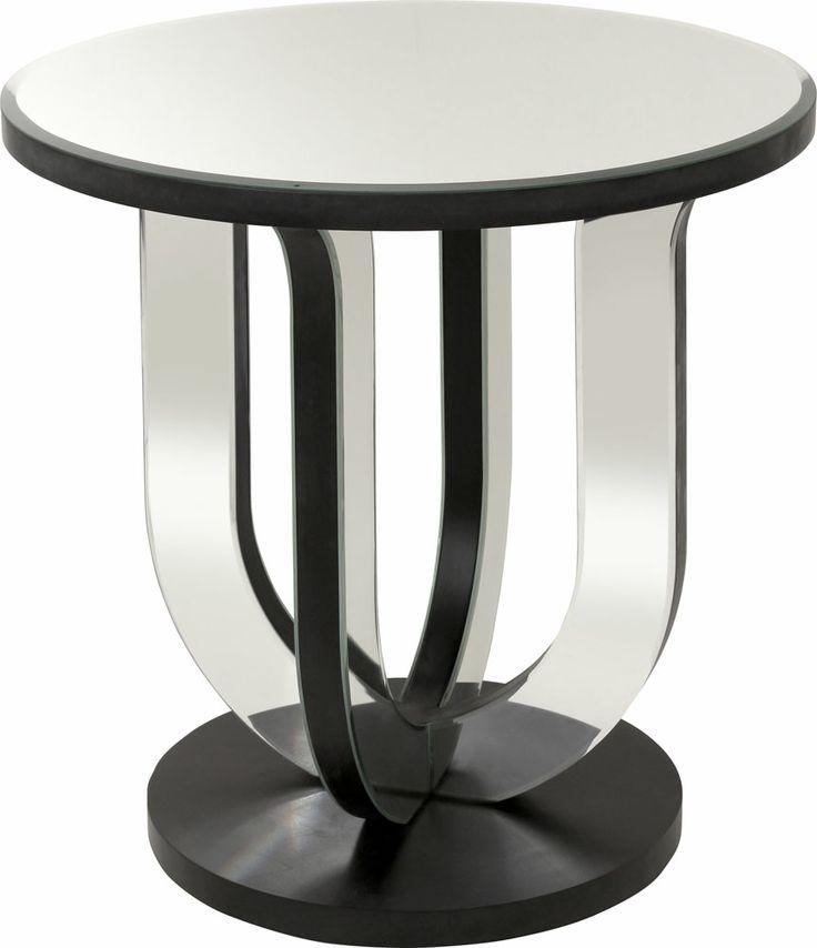 OnLine Atelier - Loja Virtual - arte - decoração - deign-  Mesa lateral espelhada na cor preta com 4mm de espelho chanfrado e estrutura em MDF pintado com 59 x 59 x 60cm. Pronta entrega Informações: (54) 9165-9726 - onlineatelier@hotmail.com