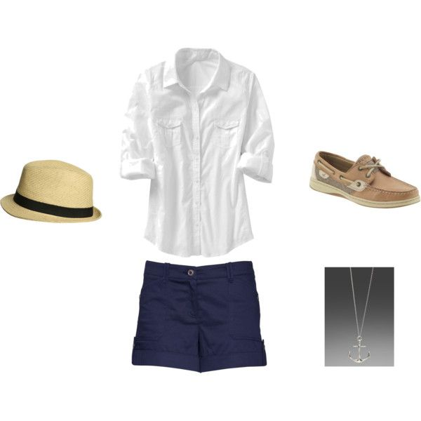 Vacation - nautical beach look, created by blairloren.polyvore.com