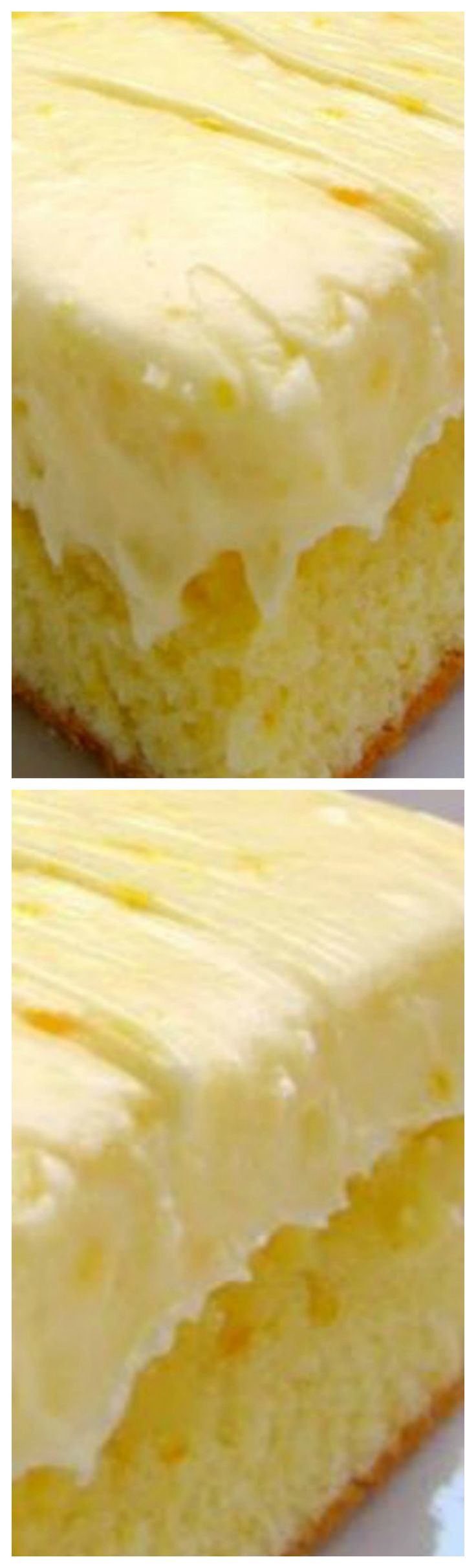 Orange Cake Recipe -~ Homemade cake with orange juice and orange zest - topped with a homemade orange cream cheese frosting.