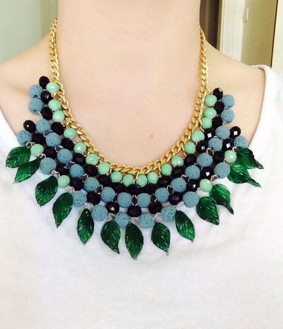"Handmade Statement Necklace, Style, Fashion, Women, Greek, ""Spring Lover"" on Etsy, 20,00€"
