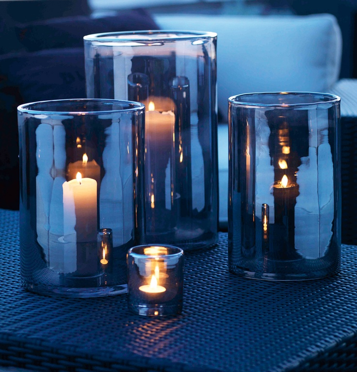 Skogsberg & Smart hurricane lamps - perfect with one of your slow glowing candles!  skandinavisk.com