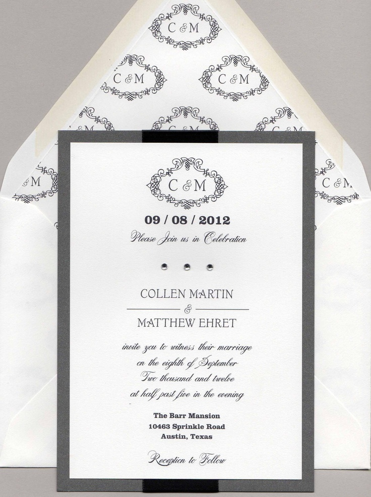 118 best Formal Elegant Wedding Invitations images on Pinterest - formal invitation