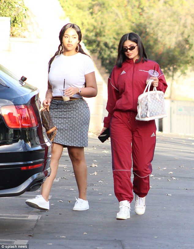 Just us: The make-up mogul was not alone as she was joined by her BFF Jordyn Woods for the occasion
