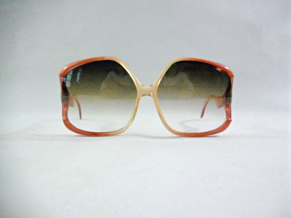 Oversized vintage sunglasses 70s sunglasses. by VintagetoFrance