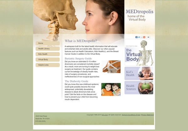"""free virtual tour of the human body that is divided into four sections: Brain, Skeleton, Heart and Digestive Tract. The narrated tour gives a thorough explanation of each section. Students can also test their knowledge with interactive activities like """"Organize Your Organs"""" or """"Build a Skeleton."""""""