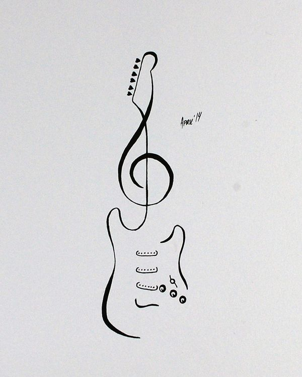 Tattoo Flash - Stratocaster Guitar by AprilsInk on DeviantArt
