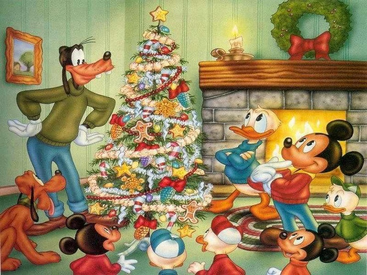 A Disney Christmas Mickey Mouse Merry Tree Goofy Pictures Donald Duck Ideas Happy Holidays