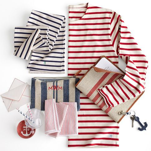 Armor Lux Cotton Stripe Scarf | Mark and Graham