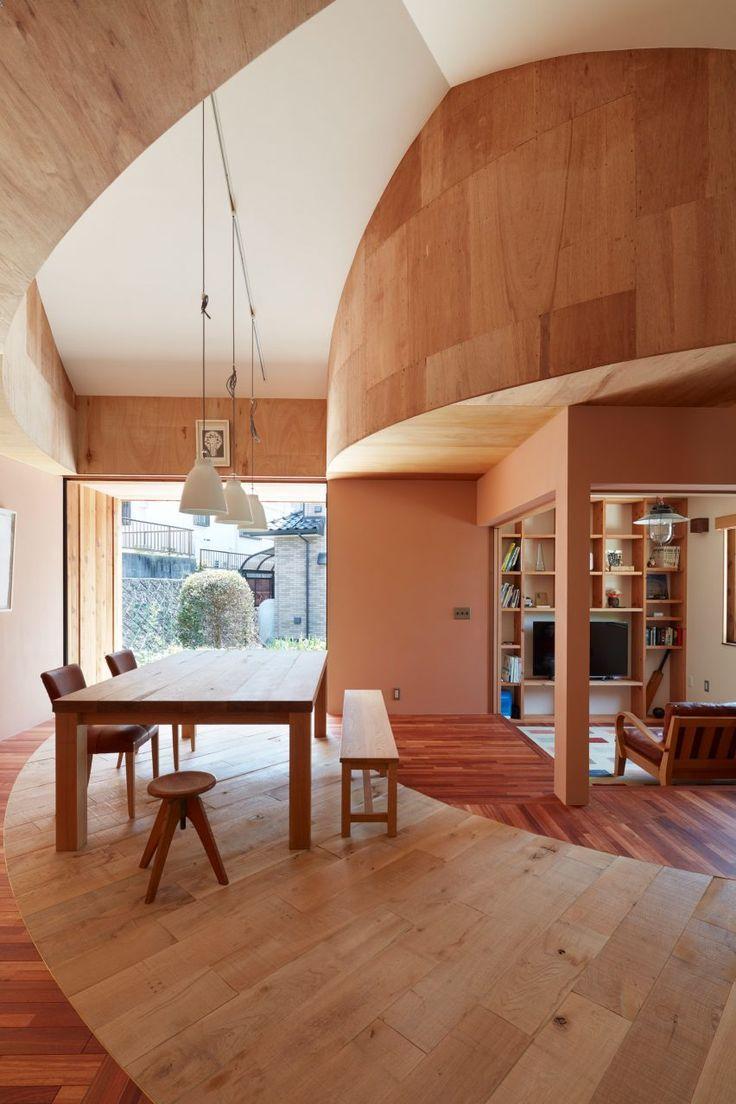 une maison organise de manire circulaire interieursjaponais architecturejaponaise maisonsjaponaises interiordesign ja intrieurs japonais in