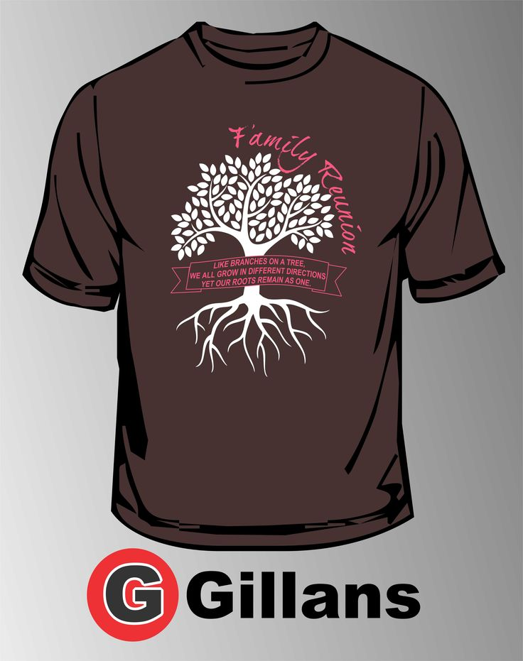get your next family reunion shirt at gillans - Family Reunion T Shirt Design Ideas