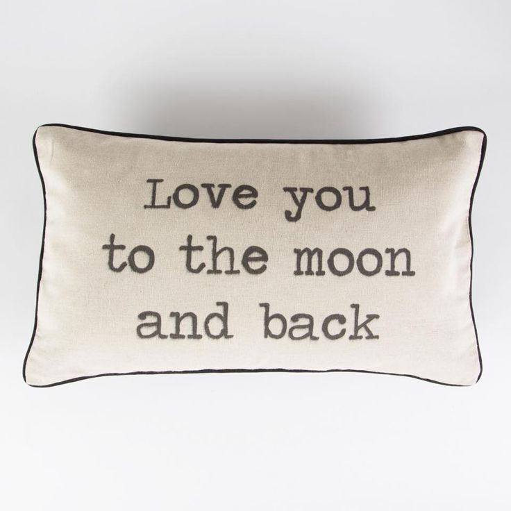 Rustic Cushion is made out of a cotton and linen mix. The words are printed in a slim font and has back piping around the edge of the cushion. The cushion comes with a removable hollow fibre polyester inner.