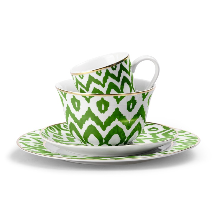 Love this Green Ikat Dinnerware from C. Wonder