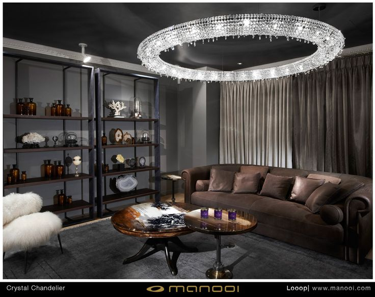 Looop crystal chandelier #Manooi #Chandelier #CrystalChandelier #Design #Lighting #Looop #luxury #furniture #interior