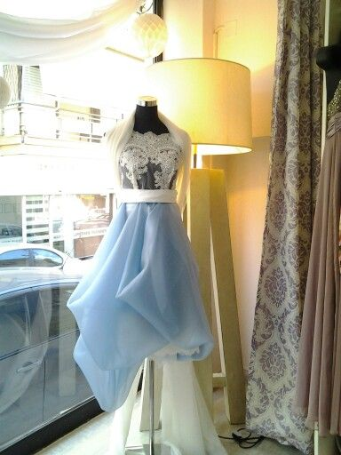 Silk organza skirt and lace top.
