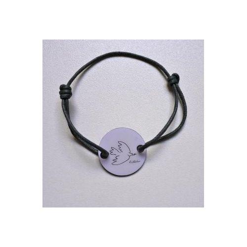 Bracelet inspiré de la Colombe de Pablo #Picasso Bracelet en coton réglable au poignet Prix 12,50 euros TTC