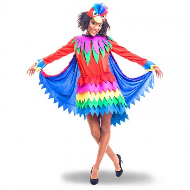 Déguisement Perroquet Fantaisie pour femme #costumespouradultes #nouveauté2017