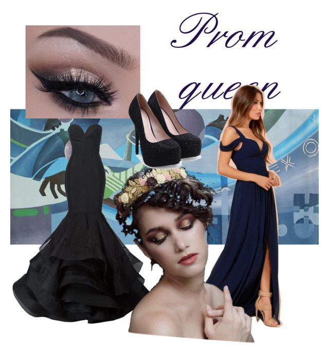 """""""prom look"""" by so-goth-im-dead ❤ liked on Polyvore featuring NOVICA, BARIANO and Christian Siriano"""