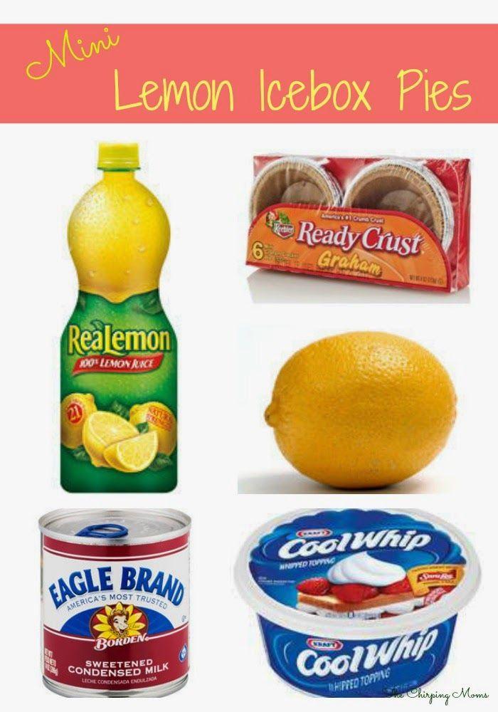 The Chirping Moms: Mini Lemon Icebox Pies