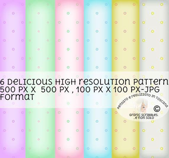 6 deliziosi pattern a pois in tinte pastello http://graficscribbles.blogspot.it/2016/02/pensando-alla-primavera-viene-subito.html #polka #dot #pattern