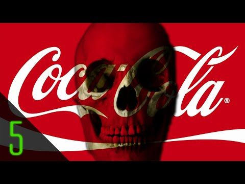 ▶Darkest COCA-COLA Secrets by Dark5 @YouTube 2014-07-12 • 1.COCAINE (cocaethylene was euphoric, infused 1885-1903) 2.Merchandise No5 (100% cocaine free 1929 but still coca leaf extract)  3.COLOMBIA (Cola/Colombian bottling partners use paramilitary to kill union leaders)  4.FANTA (WWII halted firm's biggest foreign success story in De, that due embargoes created local Fanta  5.COKE habit (NZ 31yr old woman died of 2.6gal/day or 2.2lbs sugar + 1g caffeine/day = cardiac arrhythmia)