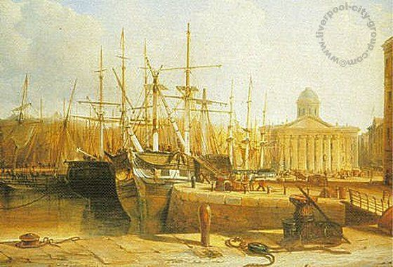 Liverpool, history, liverpool-history-l1-customs-house-canning-dock-1852