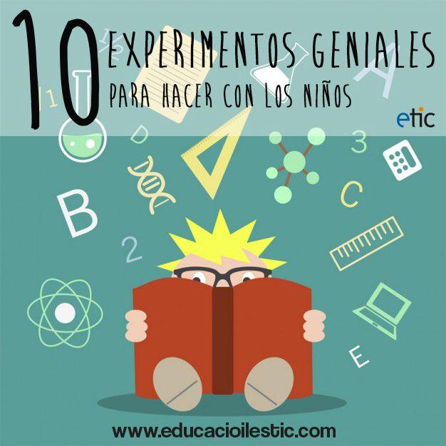 10 experimentos geniales para hacer con los niños