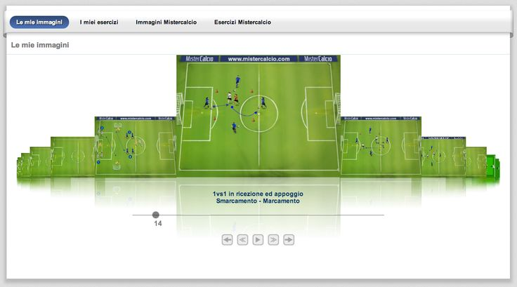 Salva gli #esercizi per poterli utilizzare nelle tue sedute di #allenamento.  Scopri tutti gli esercizi all'interno del software per allenatori di #calcio http://www.mistercalcio.com/