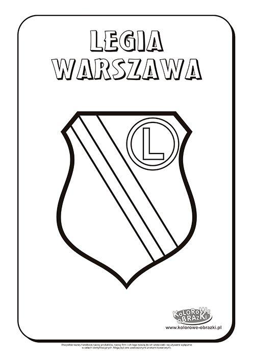 Legia Warszawa logo kolorowanka | Kolorowanki dla dzieci ...