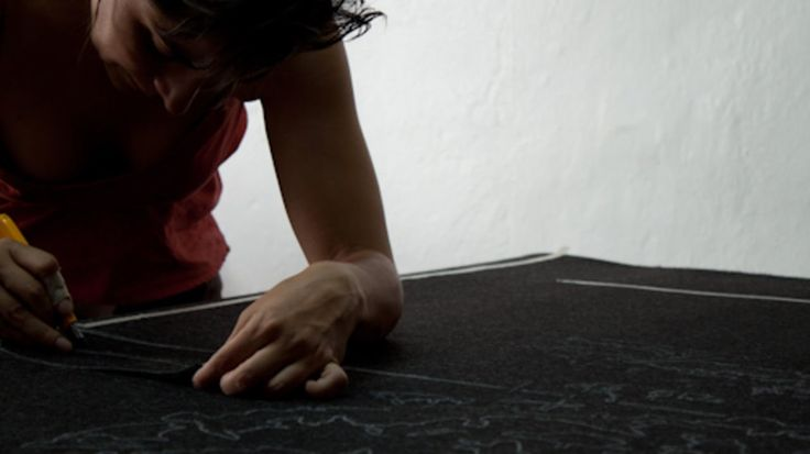 """Making of """"Some observations at noon"""" - monica bengoa. Producción y montaje, de la obra """"Algunas observaciones de mediodía"""" (2012). #handmade #video #production #felt #contemporaryart #art"""