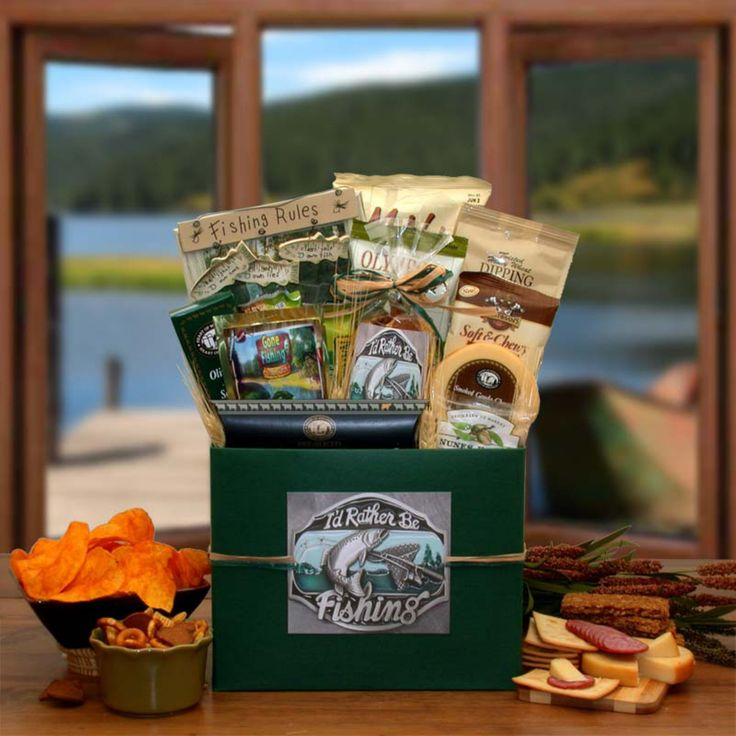 I'd Rather Be Fishing Gift Basket Box - 852152