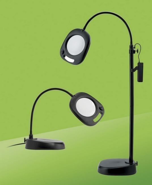 Лампа напольно-настольная светодиодная с лупой EN1091