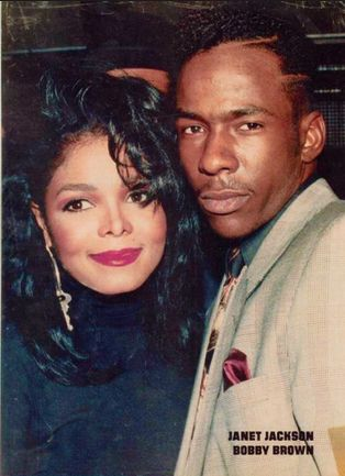 Janet Jackson and Bobby Brown