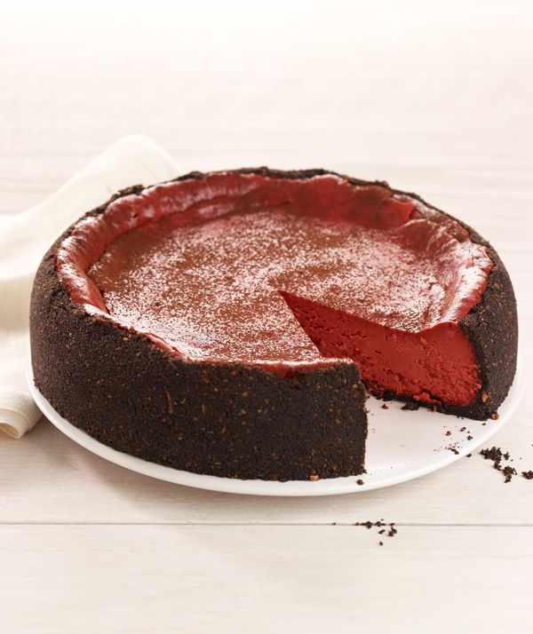 Red Velvet Cheesecake...with Greek Yogurt! Can't wait to try this!